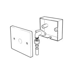 Wall-mounted Termination Point 6/8mm End Feed Inlet