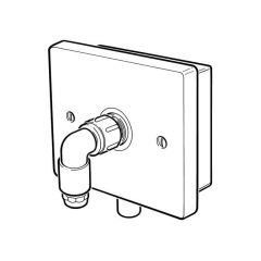 Gas Outlet Wall Rigid Fix Flush - 6/8mm Inlet x 10mm