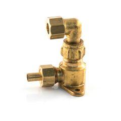 Gas Outlet Wall Rigid Fix - 6/8mm Inlet x 12mm Brass