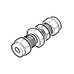 LPG Metric Compression Bulkhead Coupling - 6mm
