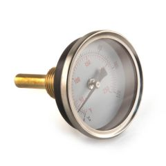 Rear Entry Temperature Gauge - 63mm