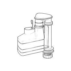 """Macdee Metro Syphon Toilet Flush - 7.1/2"""" High"""