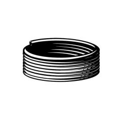 LPG Low Pressure Hose 8mm Bore, 14mm o.d. 50m Coil