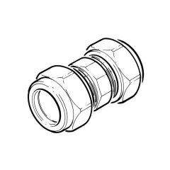 LPG Metric Compression Straight Coupler - 8mm
