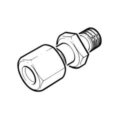 """Stainless Steel M Stud Coupling 8mm x 1/2"""" BSP PM"""