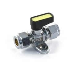 Gas Ball Valve with Strap 8mm Compression Lever Handle