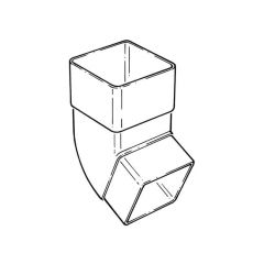 92.1/2° Offset Bend - Square - White