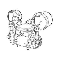 Grundfos STR2-2.0 CN Twin Regen. Shower Pump 2 bar
