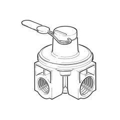 "A6H Mesura Semi-Concealed Meter Regulator - 3/4"" x 1"""