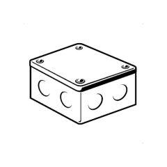 """Adaptable Box - 4"""" x 4"""" x 2"""", Galvanised Steel"""