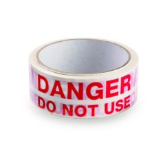 Danger Do Not Use Adhesive Tape - 36mm x 33m