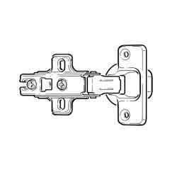 Adjustable Cabinet Door Hinge - 35mm