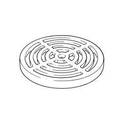 Round Grid for Bottle Trap - 180mm dia. Aluminium
