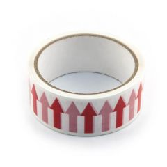 Arrow Tape - 36mm x 33m Red on White