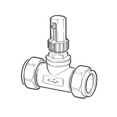 Automatic By-Pass Differential Valve - 22mm Straight