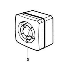 Axial Window Fan with Pull Cord - 100mm