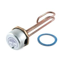 """Immersion Heater Copper 14"""" Plus Thermostat"""
