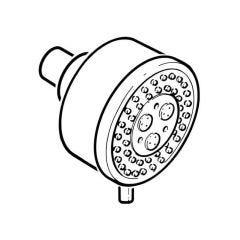 Base Multi Function Fixed Shower Head - 81mm dia. Chrome