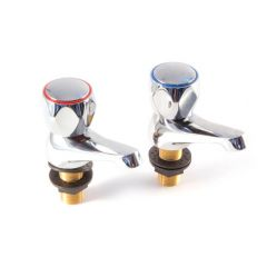 "Basin Taps, Pair - 1/2"" Chrome"