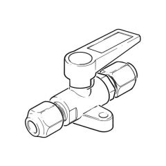 "Foot Mounted Gas Ball Valve - 5/16"" Compression"