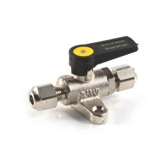 "Foot Mounted Gas Ball Valve - 3/8"" Compression"