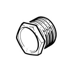 Metal Conduit Bushes Male Short - 25mm