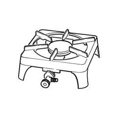 Boiling Ring, Single Burner - Cast Iron