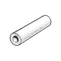 "Class O Insulation Tube - 1.1/8"" (28mm) x 25mm x 2m"