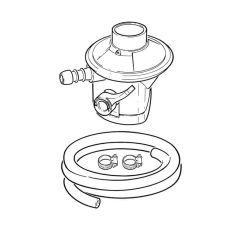 Clip-on Butane Regulator & Hose Kit
