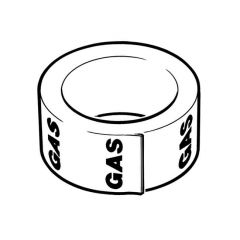 Gas Pipe Identification Tape - 50mm x 33m