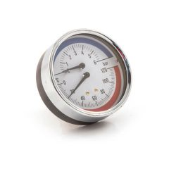 Pressure & Temp. Gauge - 80mm, 6 bar, Rear Entry