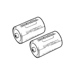 Duracell D Alkaline Batteries - Pack of 2