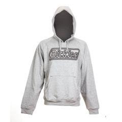 Dickies Hooded Lined Sweatshirt - Large Grey