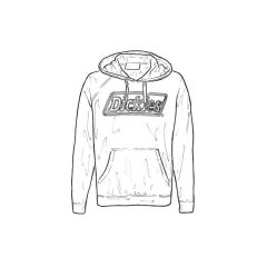 Dickies Hooded Lined Sweatshirt - XXL Grey