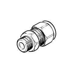 "DN16 Comp. x 1/2"" BSP M Connector - Solar Compression Fitting"