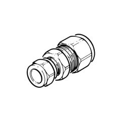 DN16 Comp. x 15 mm Comp. Coupling - Solar Compression Fitting