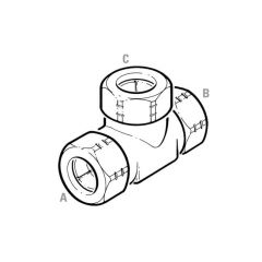 Gastite® Mechanical Tee - DN20 x DN20 x DN15