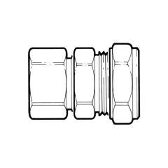 Tracpipe Straight Compression - DN22 x 15mm