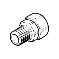 "Gastite Male Coupler Adaptor - DN40 x 1.1/2"" BSP TM"
