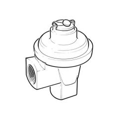 """Domestic Angle Meter Regulator with UPSO - 3/4"""""""