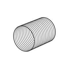 Domus Aluminium Round Duct 3m x 100mm i.d.