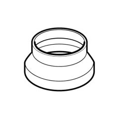 Domus Circular Reducer 125mm i.d. to 100mm o.d. White