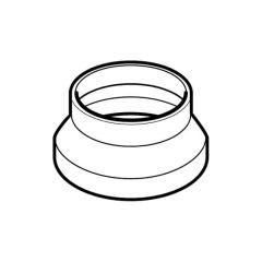 Domus Circular Reducer 150mm i.d. to 100mm o.d. White