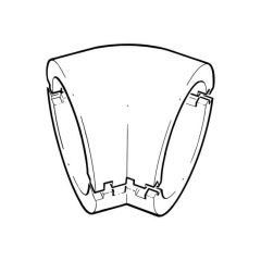 Domus Easipipe 45° Bend Insulation - 150mm Dark Grey