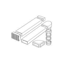 Domus MegaDuct 220 Flat Channel Ducting Kit