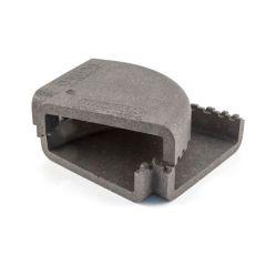 MegaDuct 220 Horizontal 90° Bend Insulation Dark Grey