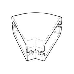 Supertube 125 Horizontal 45° Bend Insulation Dark Grey