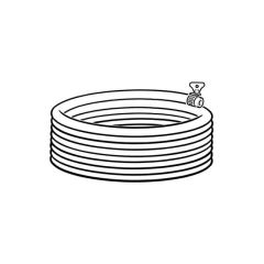 "Drain Hose - 10m x 1/2"" bore Orange"