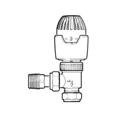 Drayton RT212 Angled TRV - 8/15mm