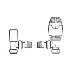 Drayton RT212 TRV + Lockshield Set 15mm